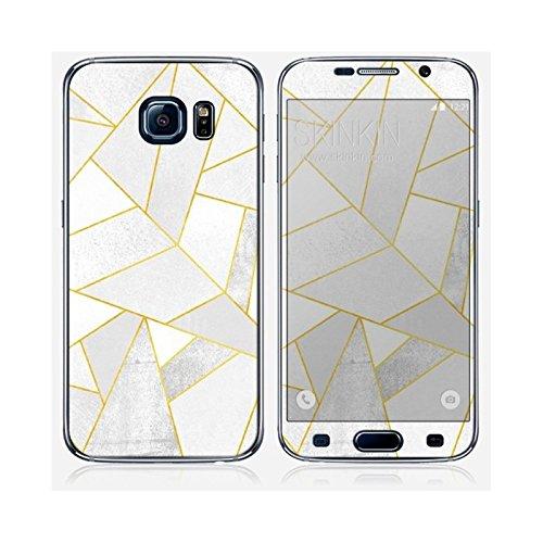 Coque iPhone 5 et 5S de chez Skinkin - Design original : White stone with gold lines par Elisabeth Fredriksson Skin Samsung Galaxy S6