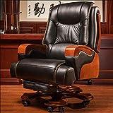 Geng Bürostühle,for Home Höhenverstellbarer Drehstuhl Gepolsterter Bequemer Computer-Stuhl, Home/Computer-Stühle (Color : Black)