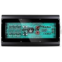Auna W1-R-10000 amplificatore per auto (10000 Watt, 6 canali, ingressi di alto e basso livello, design eccezionale, componenti a vista, tecnologia MOSFET) - nero