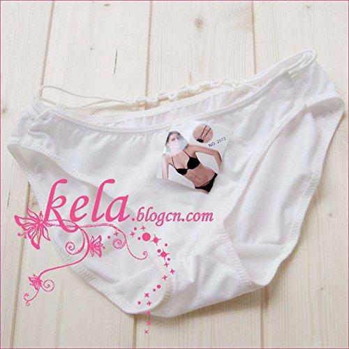 MS-niedrige Taille-Tie Bikini-Höschen Weiß