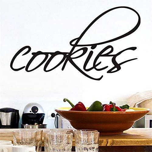 Zyzdsd 44 * 25 Cm Englisch Art Wort Cookies Wandaufkleber Kunst Wohnzimmer Küche Restaurant Vinyl Dekoration Diy Wandtattoos Küche Zimmer Dekor