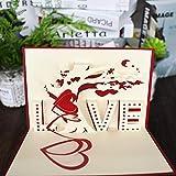 Keep Sake 3D-Popup-Karte mit Aufschrift Love