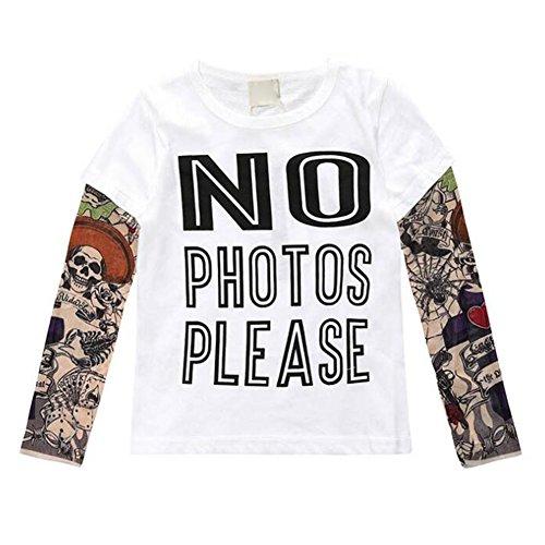 MEIHAOWEI Coole Baby Jungen Mädchen T shirts Tattoo Ärmel Baumwolle Tops Tees Keine Fotos 100 CM (Keine Tattoos)