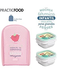Pack Mochila Térmica Infantil Mr. Wonderful y 2 Taper Tatay OPAK Hermeticos de 0.3L