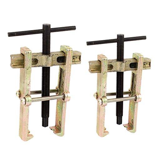 B Blesiya 2 Stück Zwei Kiefer 2 Beine Lager Zahnrad Nabenabzieher Entferner Handwerkzeug Entfernung Werkzeug, 100mm + 75mm