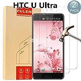 [ 2 Pack ] HTC U Ultra Protecteur D'écran , PULEN Film Protection en Verre Trempé écran Protecteur [Extreme Résistant aux rayures] [Anti Rayures] [Sans Bulles D'air] 0,26mm Ultra-mince Digitale HD Dureté 9H Film Tempered Glass Screen Protector