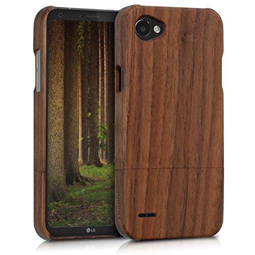 kwmobile LG Q6 / Q6+ Hülle - Handy Schutzhülle aus Holz - Cover Case Handyhülle für LG Q6 / Q6+