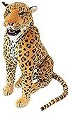 Brubaker großer Leopard mit Zähnen sitzend 90 cm Stoffleopard Stofftier Plüschtier