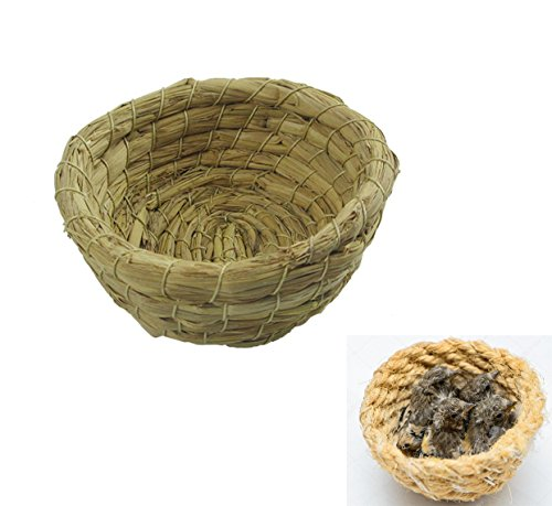 takestop Set 2Stück Häuschen Nistkasten Korb Korb in Seil 10cm zum Aufhängen für Vögel Kleine Tiere Nager Hamster Vogel