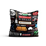 #9: Mc Sid Razz Friends TV Series Infographic - Decorative cushion covers/ throw pillow / pillowcase ( 16 x 16 inch ) - Officially Licensed by Warner Bros, USA ( without cushion ) [ Perfect Boyfriend Girlfriend Gifts, Husband Pillow, Wife Gifts, Spouse Gifts ,]