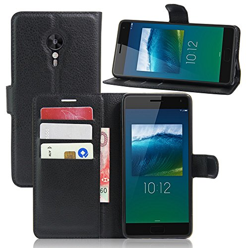 Tasche für Lenovo ZUK Z2 Pro (5.2 zoll) Hülle, Ycloud PU Ledertasche Flip Cover Wallet Case Handyhülle mit Stand Function Credit Card Slots Bookstyle Purse Design schwarz
