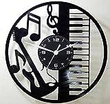 Wanduhr Vinyl Schallplatte LP 33U Instant Karma–Gitarre Batterie Tastatur Musikinstrumente