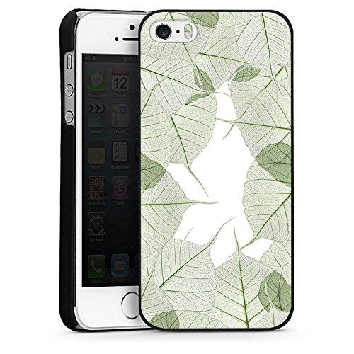 Apple iPhone 6 Housse Étui Silicone Coque Protection Feuilles Feuillage Plante CasDur noir