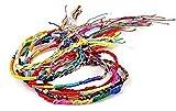 Dojore Freundschaftsarmbänder, 5Stück, farblich sortiert, gewebt, Regenbogenfarben, bunte Makramee-Armbänder
