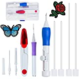 Aeoss Magic Embroidery Pen Punch Tool Kit Embroidery Patterns Punch Needle Craft Tool Set for DIY Sewing Cross Stiching