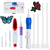 #7: Aeoss Magic Embroidery Pen Punch Tool Kit Embroidery Patterns Punch Needle Craft Tool Set for DIY Sewing Cross Stiching
