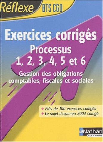 Intégrer la fonction publique : Exercices corrigé, P1 à P6 - BTS CGO
