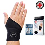 #4: Doctor Developed Wrist Brace & Wrist Support [Single] & Doctor Written Handbook - Fully Adjustable to fit any Hand