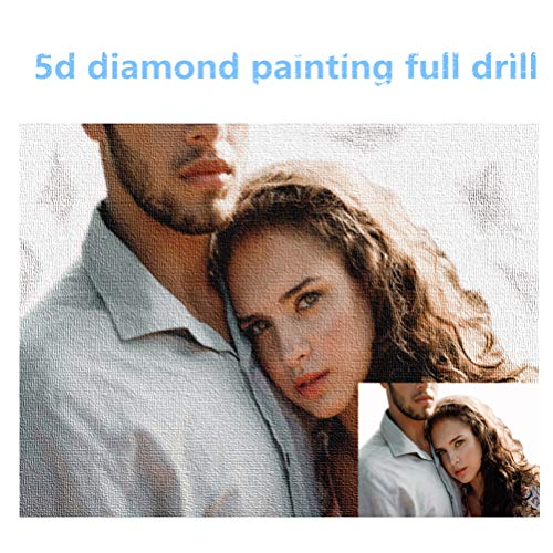 hjsadgasd Personalisierte Photo Custom 5D DIY Diamond Paintings Kits, Full Drill Private Painting Diamond Stickerei Home Wall Decor Geschenke