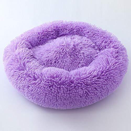 Heimtierbedarf Langhaariges Kuscheltier, rundes Nest aus tiefem Schlafkatzenkot (Farbe : Lila, größe : S)