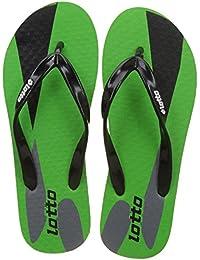 Lotto Men's Solar/Green/Black Hawaii House Slippers