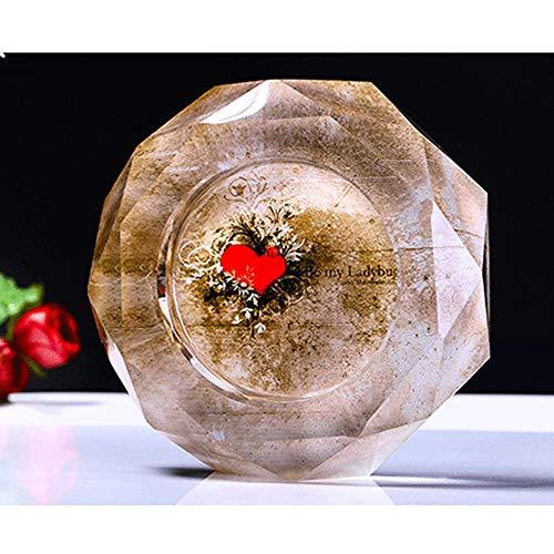 ZXT Cenicero de Cristal de Cristal