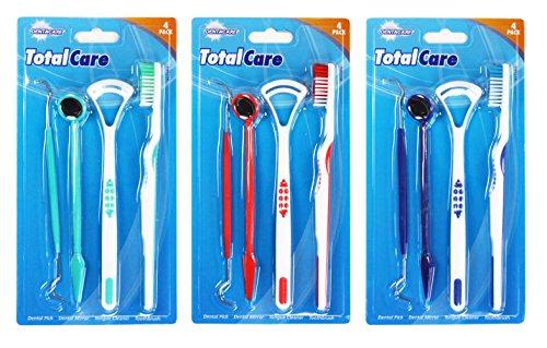 1-x-4-piece-dental-hygiene-kit-toothbrush-mirror-toothpick-scraper-teeth-cleaning
