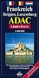 ADAC Karte, Frankreich, Belgien, Luxemburg - unbekannt