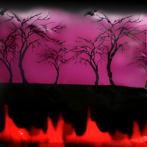 Wand-Deko für Halloween XXXL, Scene Setter, ca. 15m x (Halloween Wand)