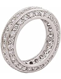 Shaze Silver Plated New Design Diamond Ring For Gifting | Rings For Girls | Rings For Women Stylish | Ring For...