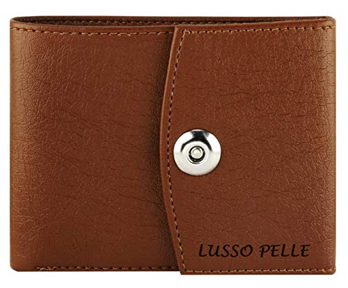 Buy Lusso Pelle Women's Leatherette Clutch Wallet (Brown) online in India at discounted price