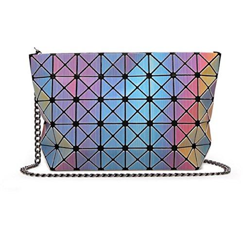 Nuova Catena Laser Pacchetto Geometrica Ling Griglia Shoulder Bag Messenger OneColor