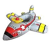 Aideal Baby Schwimmen Ring Flugzeug Schwimmsitz Aufblasbarer PVC Schwimmring Badesitz Schwimmreifen Float Pool für Kinder Strand Badespielzeug, für 1 bis 6 Jahre (Grau)