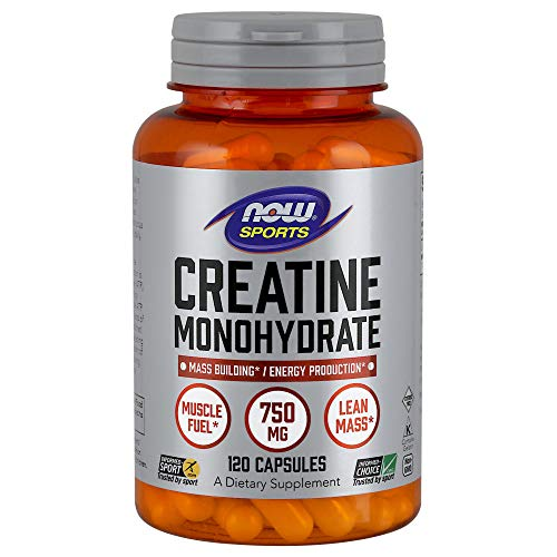 Now Foods Creatine Monohydrate 750mg Capsules, 120-Count -
