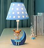 Mond kleine Tischlampe Schlafzimmer Nachttischlampe Kinderzimmer Schreibtischlampe Warm Kreative Kinder-nette Mädchen-Geburtstags-Geschenk ( stil : A )