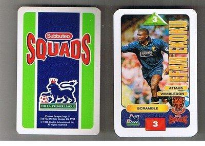 Subbuteo 1996strzeleckie Wimbledon EFAN ekoku Fußball GAME Card -