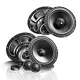 Picture Of Eton Front/Rear Full Set of 16.5cm/165mm Car Speakers/Boxes/Speaker for Fiat Stilo 2001To 2008