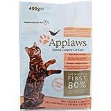 Applaws Katzentrockenfutter mit Hühnchen & Lachs 400 g, Trockenfutter, Katzenfutter