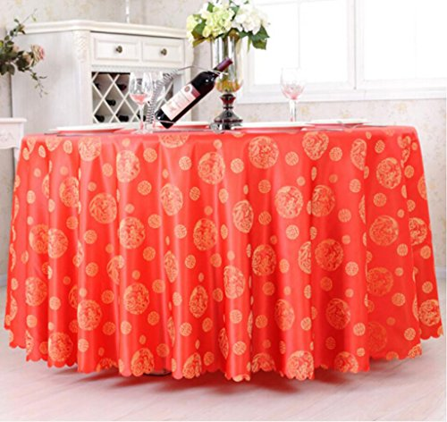 nappe de table Restaurant tissu de table, nappe de mode tissu nappe nappe/tissu simple moderne Tapis de table (Couleur : Rouge, taille : Round 260cm)