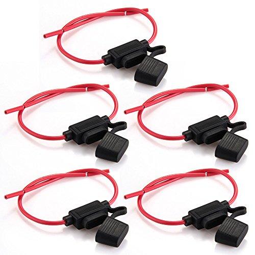 Zimo® 5 Portafusibili per auto, impermeabili, con telaio completamente colato, misura M, nero/rosso