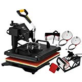 HuSuper Transferpresse 5 in 1 30X38cm Heat Press Machine Tassenpressen Heißpresse T-Shirt Becher Hut Cap Sublimation Telefon (5 IN 1)