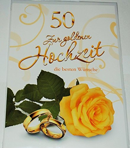 Karte XXL - zur goldenen Hochzeit - und Umschlag