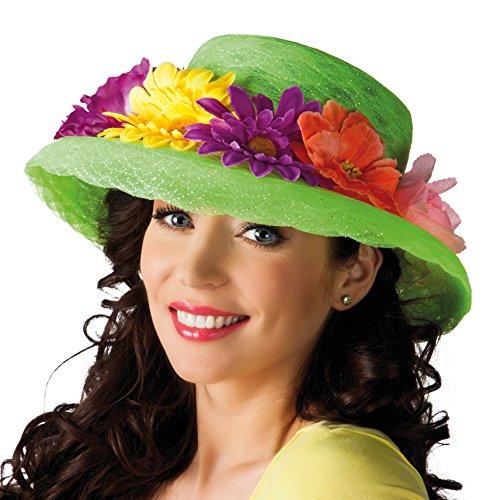 Boland 01286 - Erwachsenenhut Flowers, Einheitsgröße, grün (Blume Erwachsene Für Halloween-kostüme)
