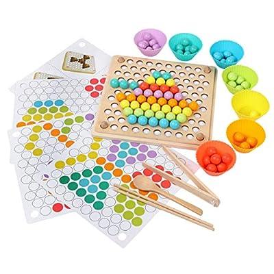 Juguete Educativo Montessori, EducacióN Temprana Palillos Cuentas Juguetes Rompecabezas Tablero Manos Cerebro Entrenamiento Juego de MatemáTicas Juguetes para BebéS NiñOs por Beetest ES
