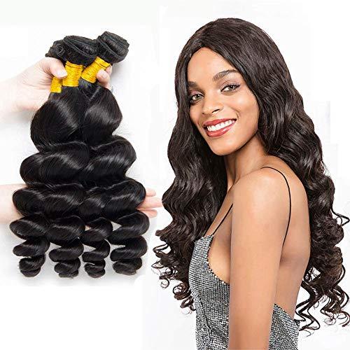 La® brasiliani vergini ondulato naturale capelli umano, morbidi e lisci sciolto umani capelli veri,grado 8a, 300g (45cm 50cm 55cm)