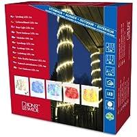 Konstsmide 3044-100 LED Lichterschlauch 6m / für Außen (IP44) /  230V Außen / 72 warm weiße Dioden / transparenter Schlauch