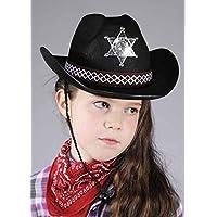 Boland Childrens Size Black Sheriff Cowboy Hat