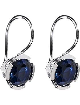Thomas Sabo Damen-Ohrringe Glam & Soul 925 Sterling Silber synthetischer Korund blau H1836-048-32