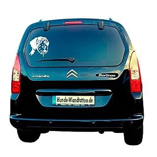 German Wirehaired Pointer Car Stickers–Car Sticker ATK0166Caravan Campervan Dog Head Amberdog