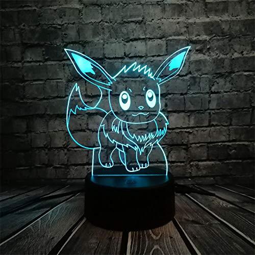 Luce Notturna Txxzn Pokemon Azione Figura 3d Lampada Rgb Pikachu Tartaruga Fuoco Fuoco Drago Pokeball Ball Bulbasaur Bay Ruolo Regalo Luce Notturna Led Stile 7 Stile 6